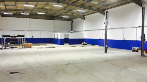 Paul Dunnings Workshop - New Lighting & Power Install - Completed installation of 11 new lighting fixtures, Metal Trunking, Consumer Unit and 3Ph Supplies