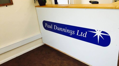 Paul Dunnings Garage Reception